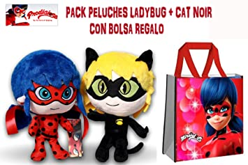 LADYBUG PELUCHES PACK 2 UNID. CON REGALO