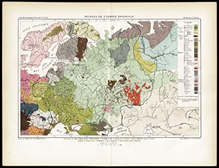 ThePrintsCollector Antique Map-Ethnic Groups-Eastern Europe-Russia ...