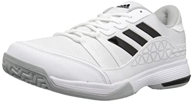 adidas Men's Barricade Court Wide Tennis Shoes, White/Black/Light Onix, (