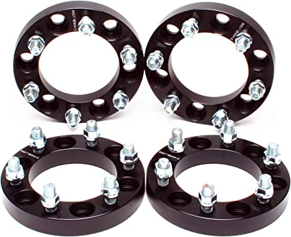 6x139.7 ZY Wheel 4pcs Wheel Spacer Adapter 6 Lug 6x5.5 to 6x5.5 1 25mm Thickness 12x1.5 Studs for Toyota Tacoma Chevy Colorado Acura GMC Canyon Honda Hummer Hyundai Isuzu Kia Lexus Mitsubishi Black
