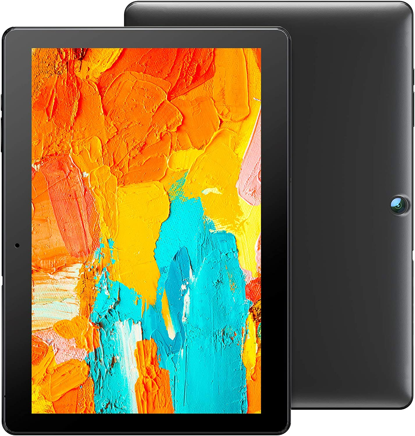 Voger PriorPad X100 Tablet 10 inch, Android 10.0, 2GB RAM 32GB Storage, 2MP+8MP Dual Camera, 1280x800 IPS HD Display, Dual-WiFi Support, Bluetooth, Google GMS Certified, Quad-Core Processor (Black)
