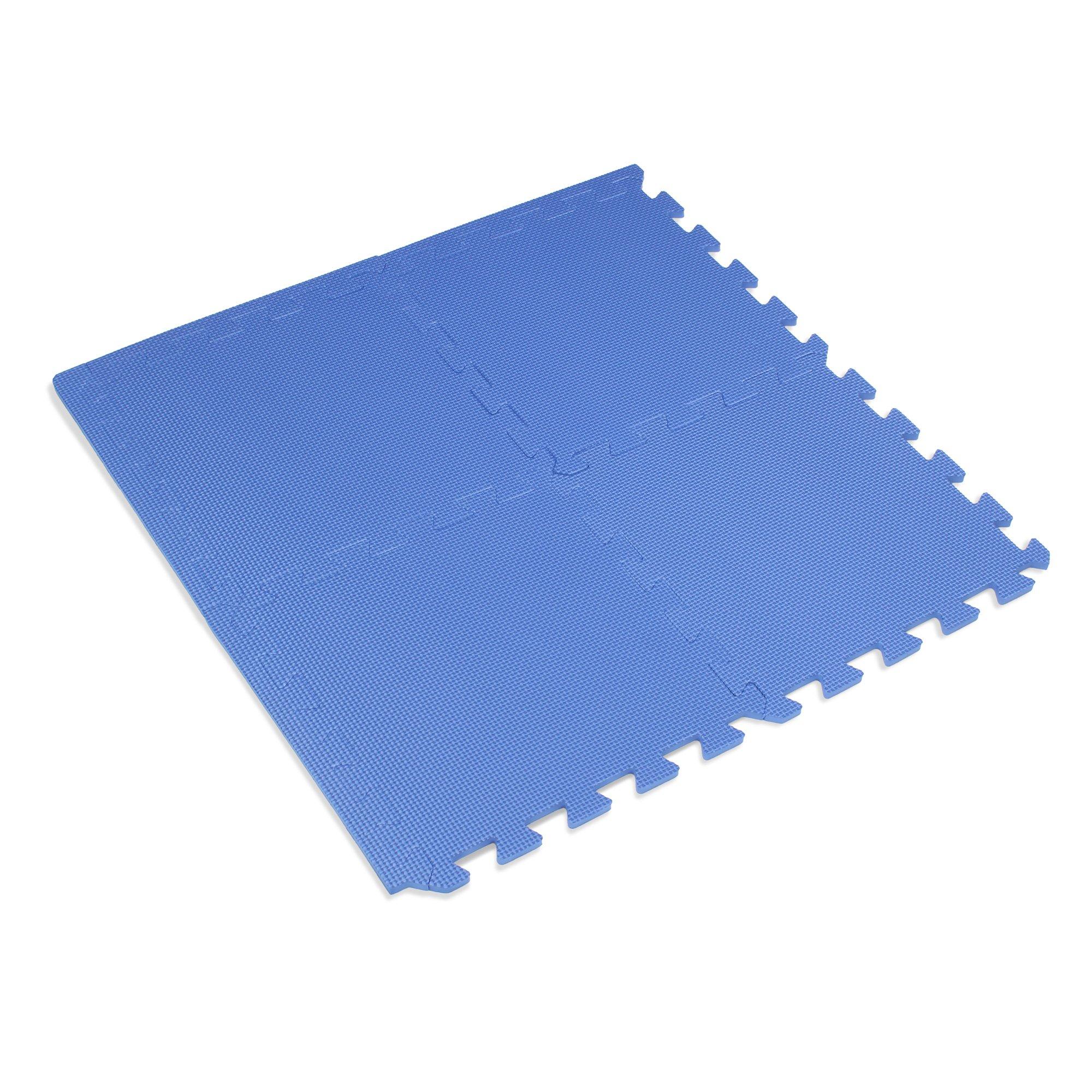 We Sell Mats 12'' x 12'' x 3/8 16 Sq Ft Blue Interlocking Foam Mat