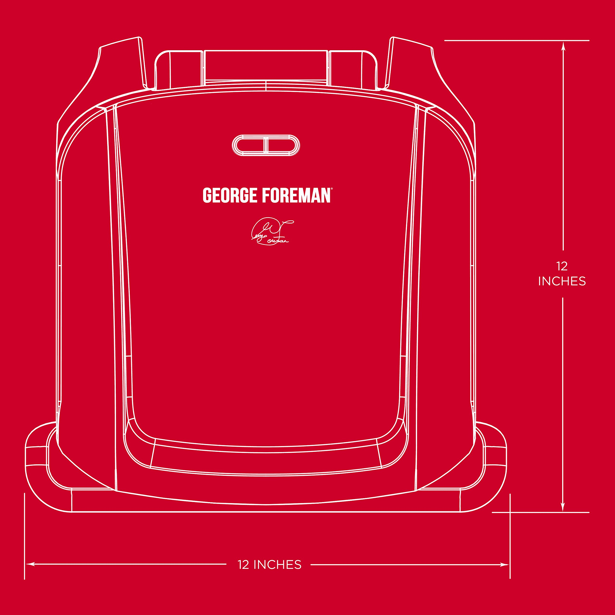 George Foreman 4-Serving Removable Plate Grill and Panini Press, Black, GRP1060B by George Foreman (Image #6)