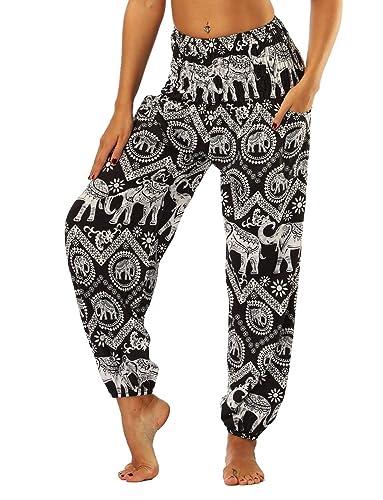 Mieuid Mujer Pantalones Harem Pantalones Verano Pa...