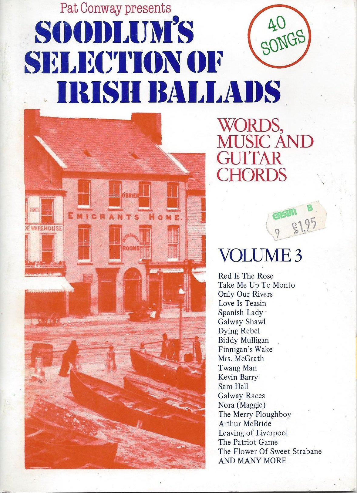 Soodlums Selection Of Irish Ballads With Guitar Chords Vol3 Pat