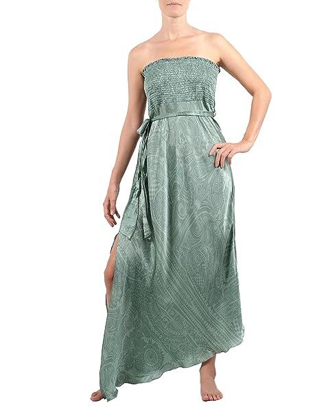 Lola Moda - Vestido - para mujer Verde Jade