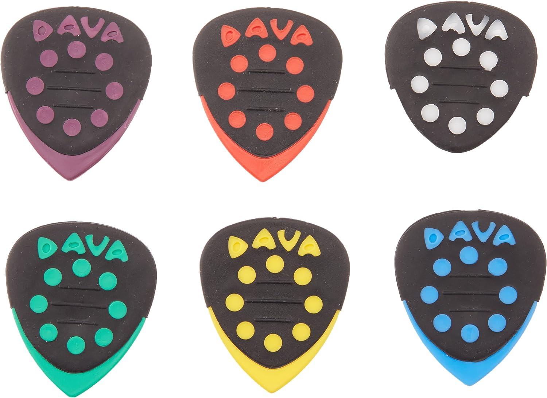 DAVA Control Grip Tip Guitar PICKS 6 PICKS Green
