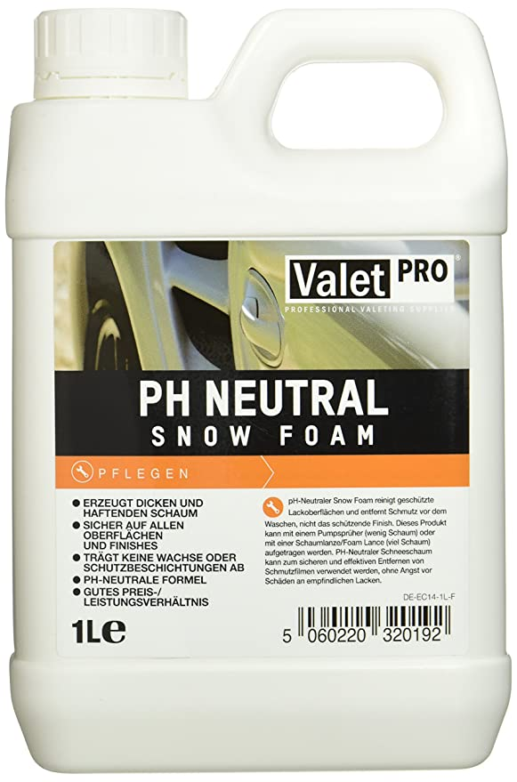 Valet PRO PH Netural Nieve espuma (1 L)  Amazon.es  Coche y moto b9a3e1df0e67