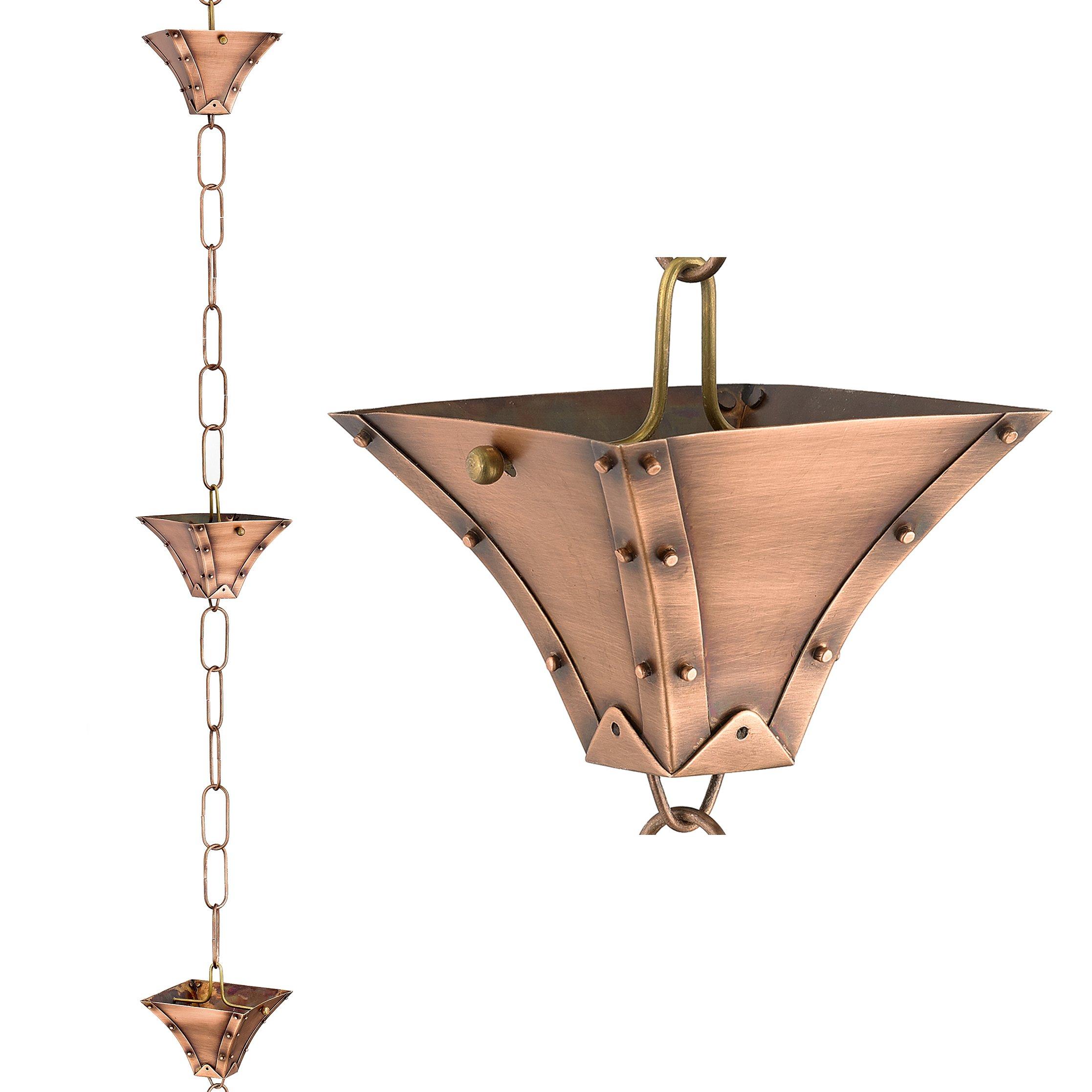 Good Directions 471P-8 Palazzo Pure Copper 8.5' Rain Chain