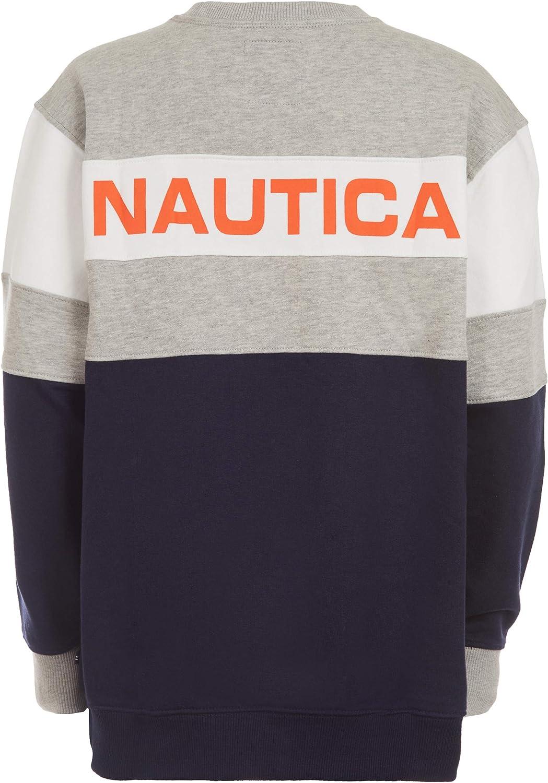 Nautica Boys Oversized Fleece Crew Neck Sweater