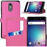 BLU Vivo 5R coque cover case, KuGi ® BLU Vivo 5R coque housse - le style BW ultra-mince affaire stand de haute qualité PU pour téléphone intelligent BLU Vivo 5R.(Rouge)
