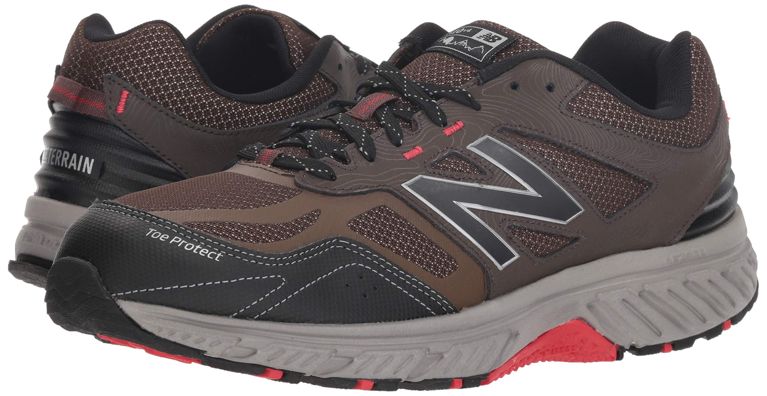 New Balance Men's 510v4 Cushioning Trail Running Shoe, Chocolate/Black/Team red, 7 D US by New Balance (Image #6)