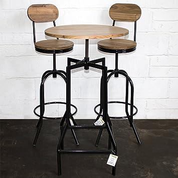 Marko Furniture 3pc Bistro Set Bar Table Stools Round