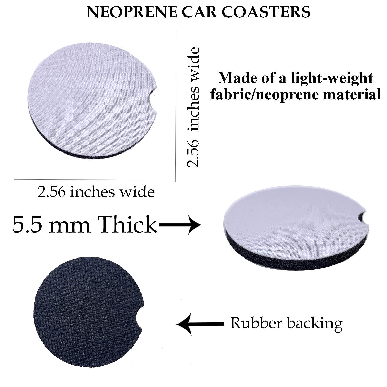Lavendar Fields Car Coasters Neoprene Set of 2