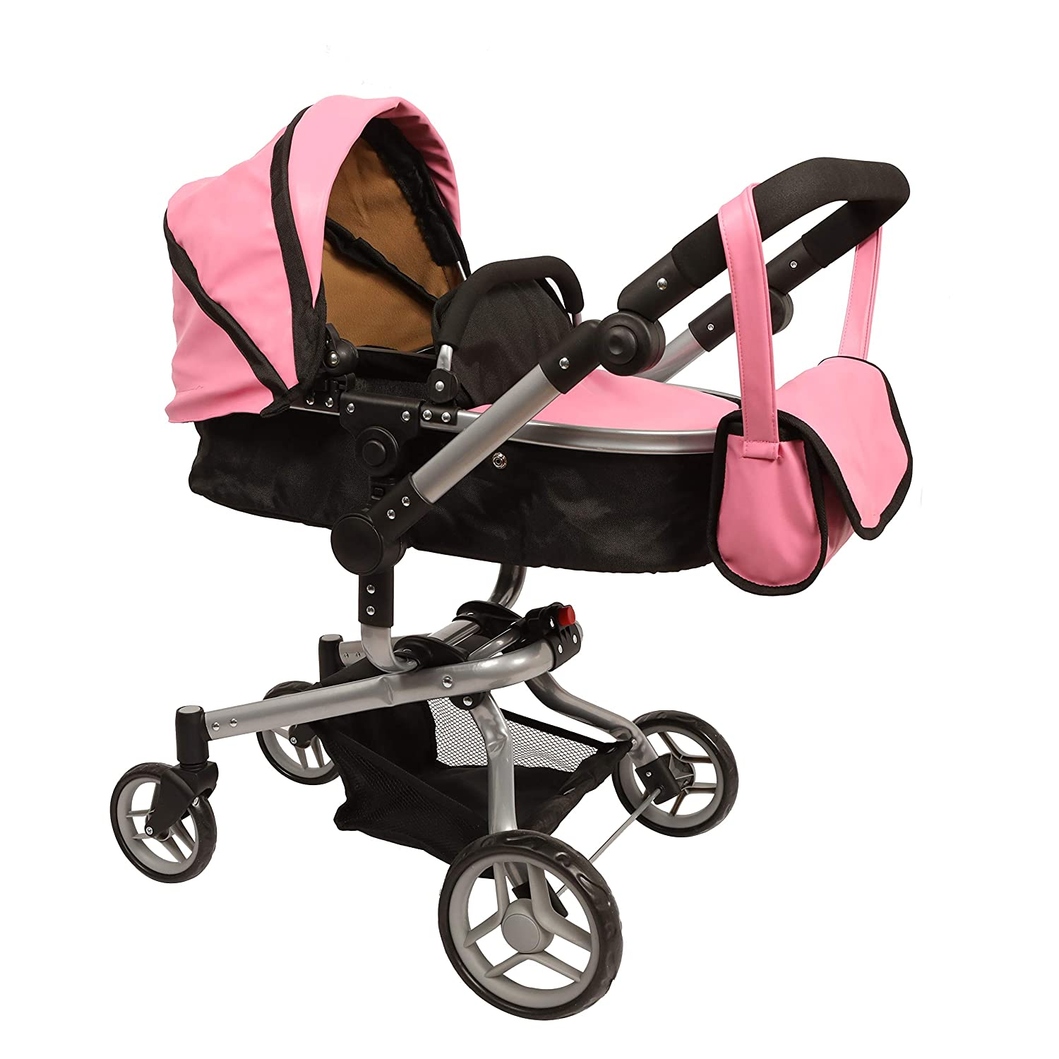 Mommy & me 2 in 1 Deluxe Leather doll stroller EXTRA TALL 32'' HIGH