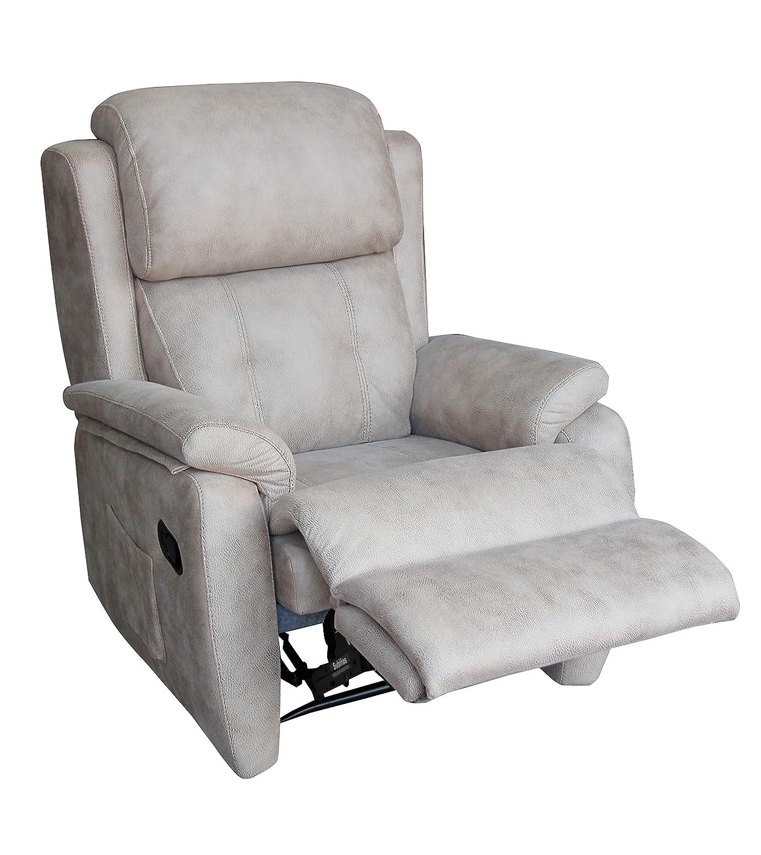 pamf Sillón reclinable, cómodo sillón Relax, Moderno, Producto Nacional,Gris Cemento.: Amazon.es: Hogar