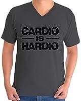 Awkward Styles Men's Cardio Is Hardio V-neck T shirt Tops Black Lightning GYM