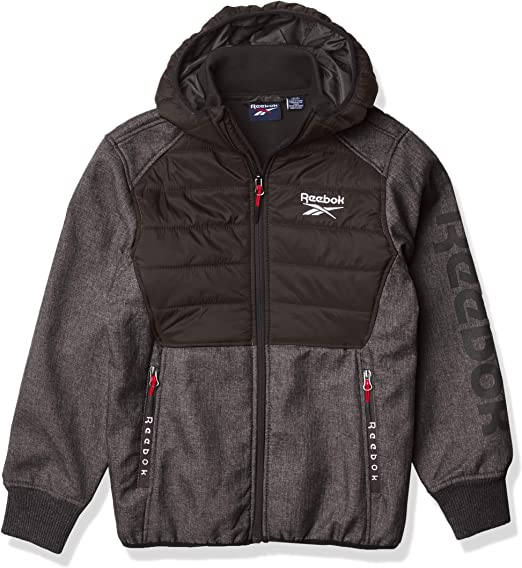 Reebok boys Soft Woven Jacket With Quiltin