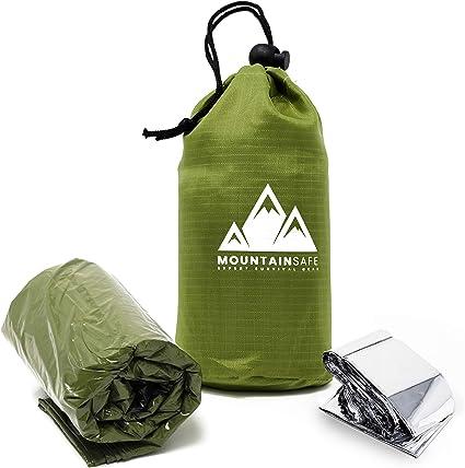 Outdoor  Life Bivy Emergency Sleeping Bag Thermal Keep Warm Waterproof Mylar