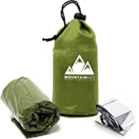 MountainSafe Emergency Tactical Thermal Waterproof Bivy Sack Sleeping Bag + Bonus Mylar Survival Blanket - Superior…