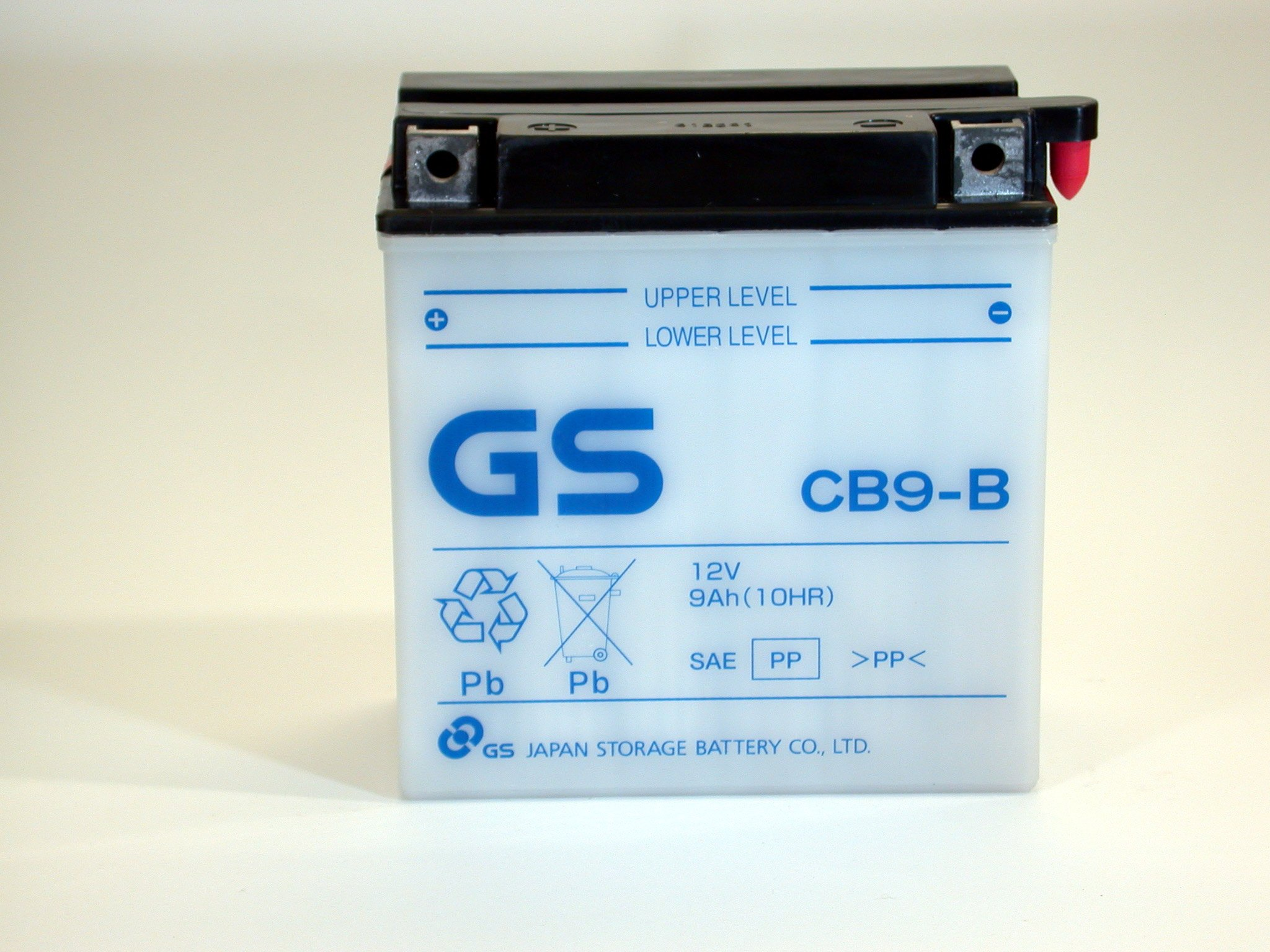 CB9-B with Acid Pack by GS BATTERY, a subsidiary of GS YUASA; The World's Leading Manufacturer of Powersports Batteries