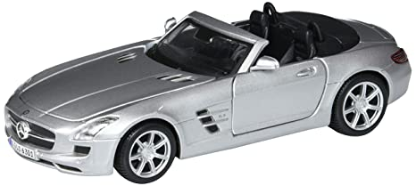 Buy Mercedes Benz Sls Amg Roadster Convertible Silver Maisto