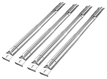 Unicook Stainless Steel Gas Grill Tube Burner, Adjustable Pipe Tube Burner  4 Pack, Extend from 13