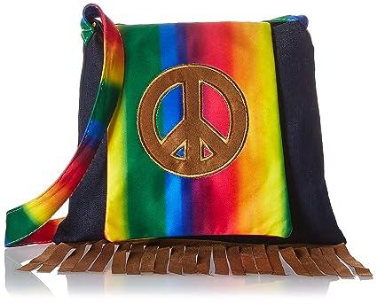 Amazon.com: Groovin 'disfraz de 60s Hippie Bolso, Multi ...
