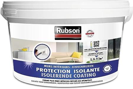 Rubson 1800291 Pittura Isolante Per Muri Interni Anti Umidita Effetto Isolante Termico Secchiello Da 2 5 L Bianco Amazon It Fai Da Te