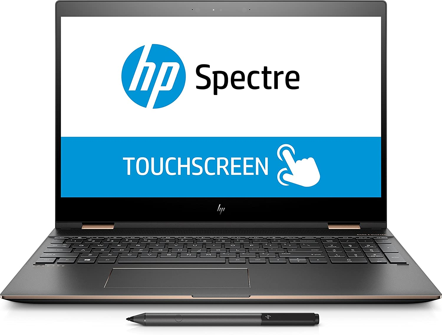 Hp Spectre X360 15 Ch055na 3dl15ea 15 6 Touchscreen Hd 4k Laptop Intel Core I7 8705g 8gb Ram 512gb Ssd Windows 10 Home Dark Silver Amazon Co Uk Computers Accessories