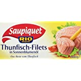 Saupiquet Rio Mare Thunfisch-Filets in Sonnenblumenöl, 2 Dosen, 160 g