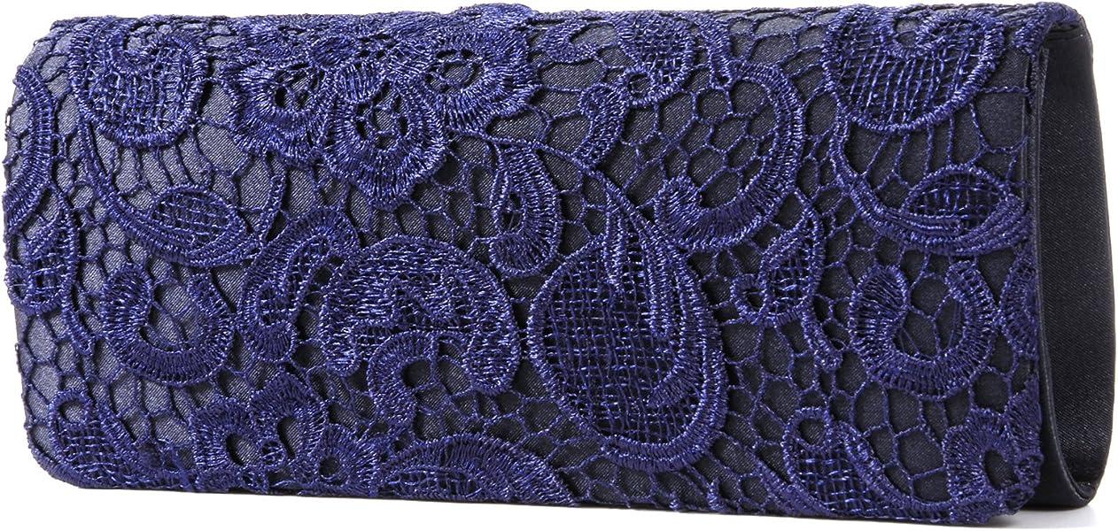 dbf708266cecd Luxus Spitze Damen Clutch Abendtasche Damentasche Handtasche Brauttasche  mit Kette (weiss schwarz blau)