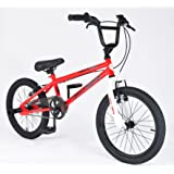 """Muddyfox Griffin 18"""" BMX Bike with Stunt Pegs - Red and White - Boys - New Model - Online Exclusive!"""