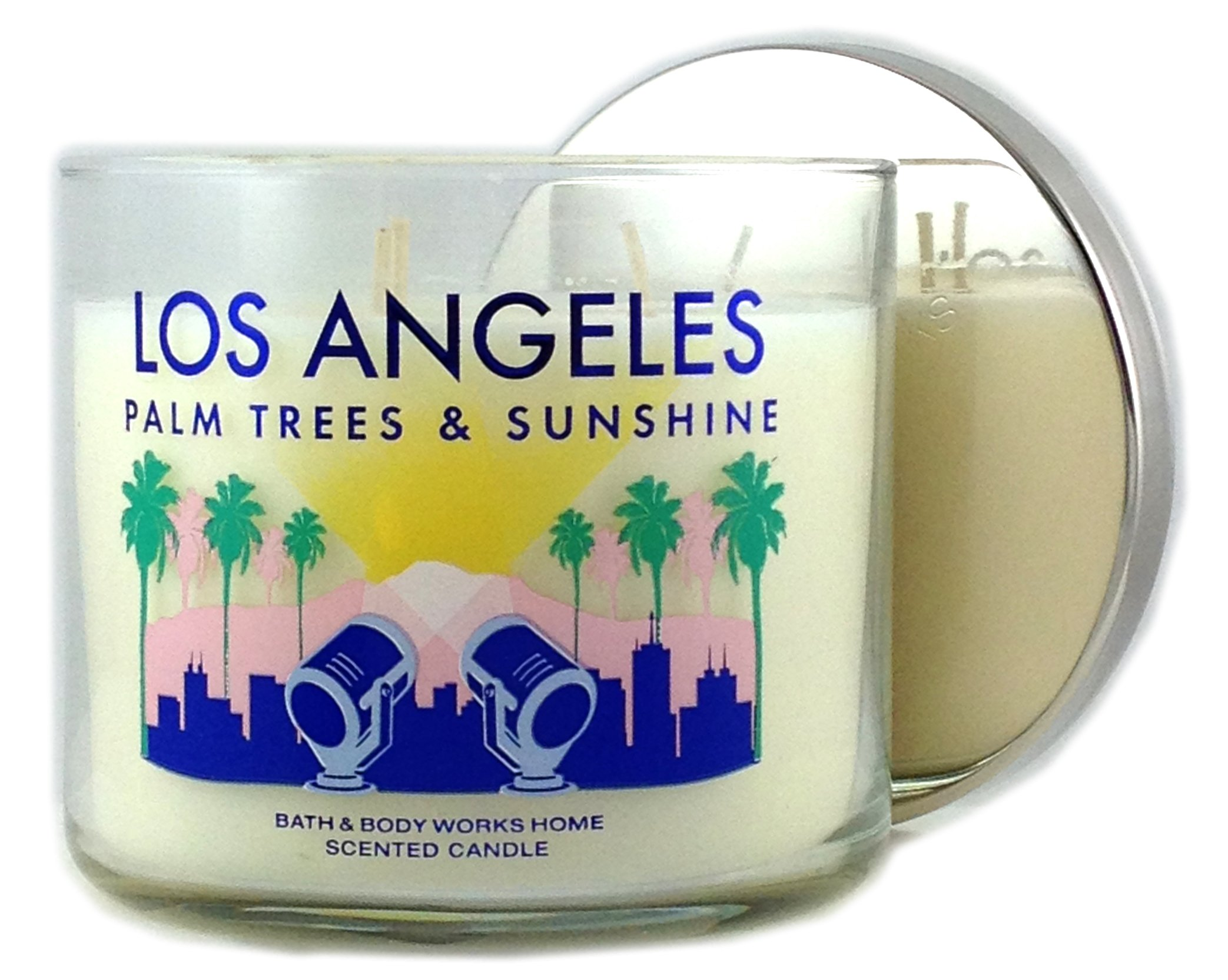 Bath & Body Works Candle 3 Wick 14.5 Ounce Los Angeles Palm Trees & Sunshine by Bath & Body Works