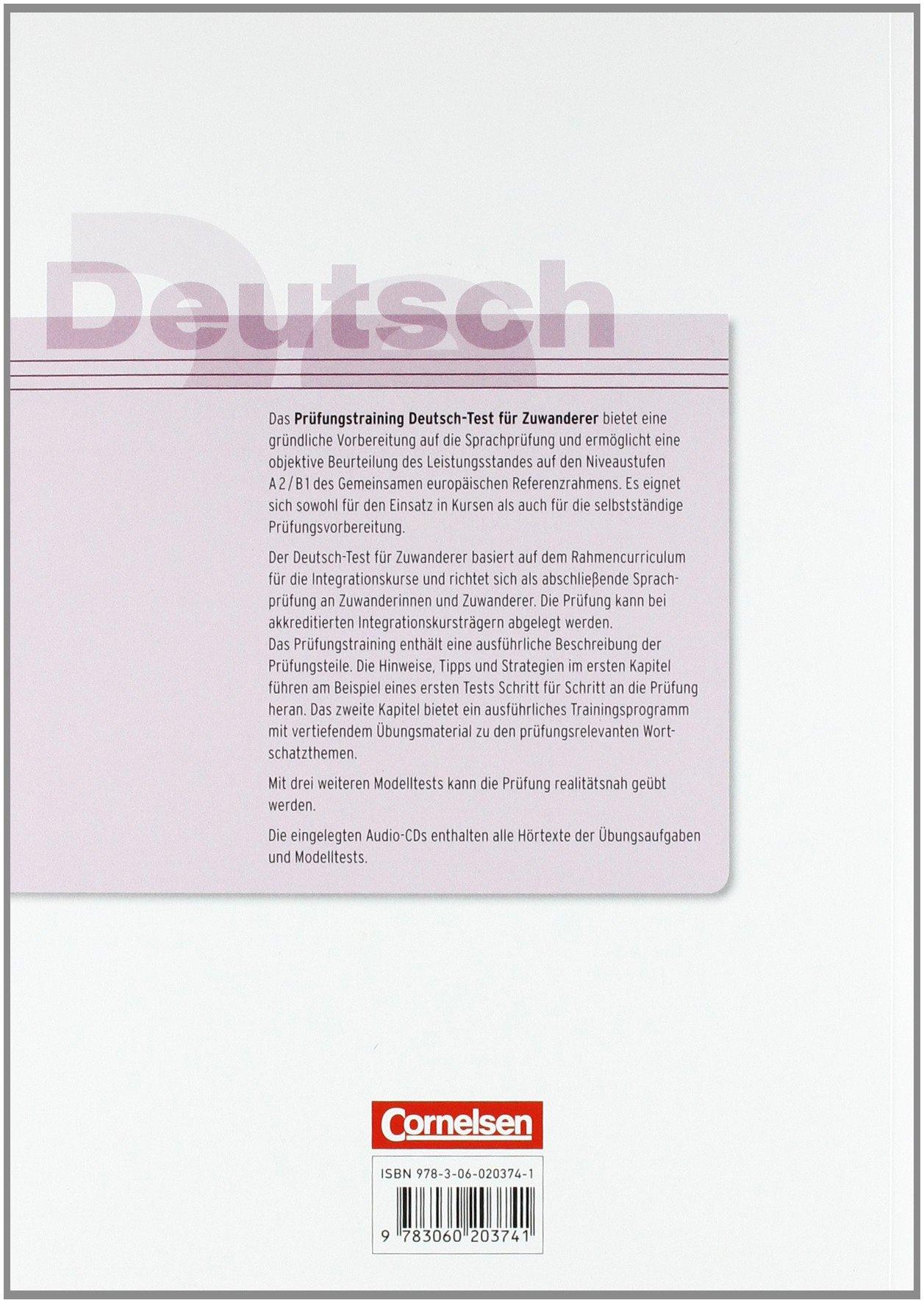 buy prufungstraining daf deutsch test fur zuwanderer ubungsbuch mit cd a2 book online at low prices in india prufungstraining daf deutsch test fur - B1 Prufung Muster