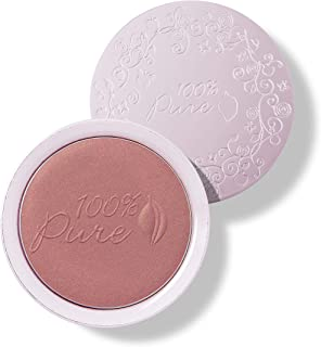 product image for 100% PURE Powder Blush (Fruit Pigmented), Berry, Soft Shimmery Finish, Nourishes Skin w/Rosehip Oil, Cocoa Butter, Natural Makeup (Vibrant Pink Berry) - 1.81 oz