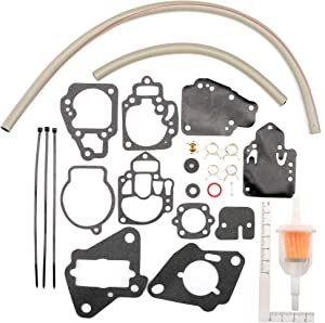 Unepart Carburetor Repair Kit for Mercury Marine Replaces 1395-97611 1395-9645 1395-9761 1395-9377 1395-9179 1395-9803 1395-9725 1395-811357