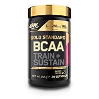 Optimum Nutrition Gold Standard BCAA Branch Chain Amino Acids with Vitamin C, Wellmune & electrolytes. BCAA powder by ON - Peach & Passionfruit, 28 Servings, 266g
