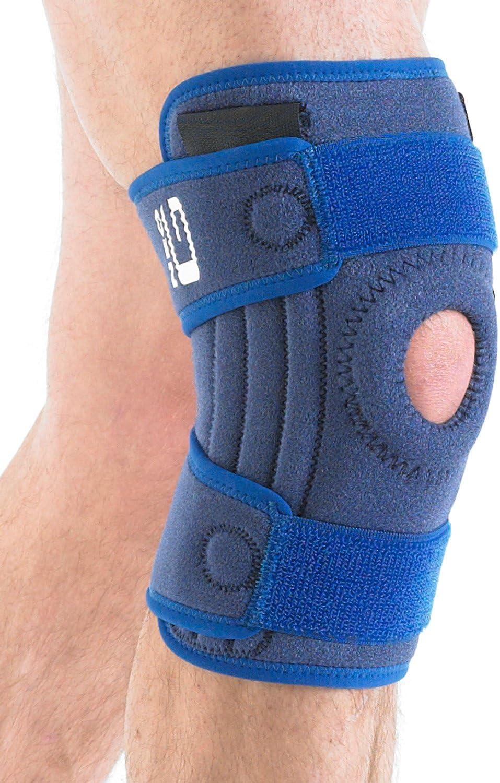 Neo G Rodillera estabilizadora -Calidad de Grado Médico. x4 varillas flexibles, soporte adicional. Ayuda a rodillas lesionadas, artríticas, esguinces, distensiones, inestabilidad. Talla Única - Unisex