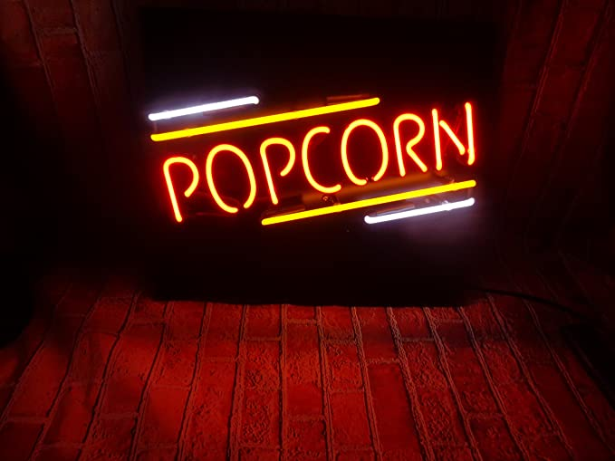 Popcorn handcrafted glass tube neon sign metal frame 24winsx20h popcorn handcrafted glass tube neon sign metal frame 24winsx20h aloadofball Image collections