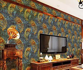 Eurotex 3d Modern Design Wallpaper Use As Wall Covering For Living Room Bedroom Walls Green Color Wallpaper Roll 57 Sq Ft 690504