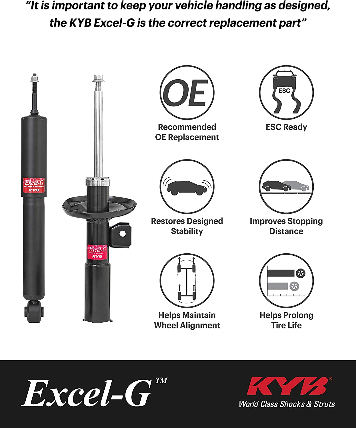 KYB 343395 Excel-G OE Replacement Shock