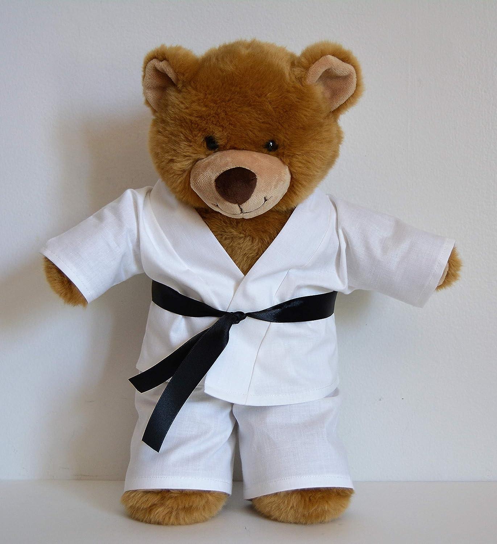 Handmade Doll Clothes White Karate Uniform Gi Judo TKD fit 15