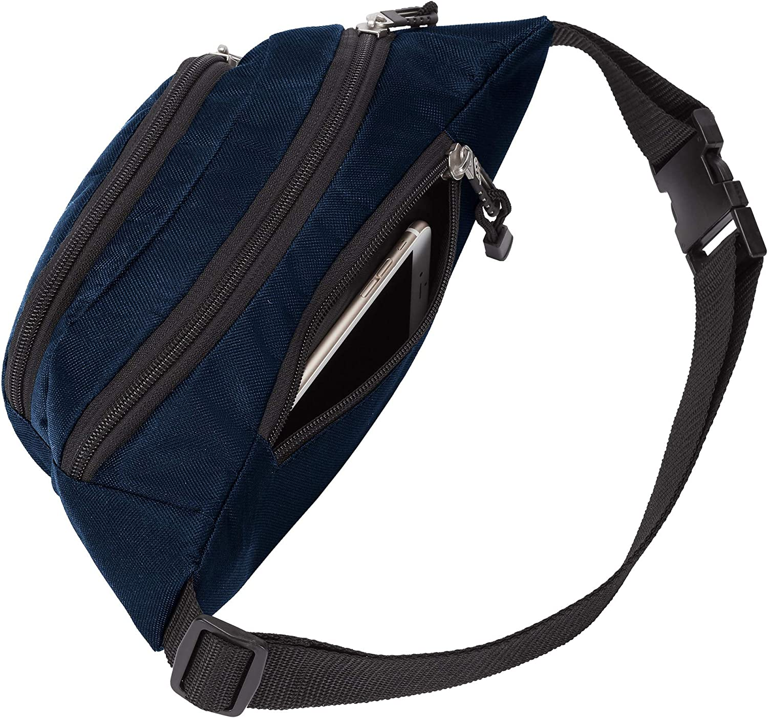 Multi Color 13 x 5 x 5 Officially Licensed NCAA Cross-Country Belt Bag