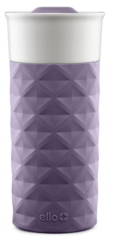 Ello Ogden BPA-Free Ceramic Travel Mug with Lid, 16 oz Coral Leapfrog Brands 758-0438-073