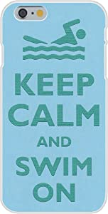 Apple iPhone 6 Custom Case White Plastic Snap On - Keep Calm and Swim On Swimmer