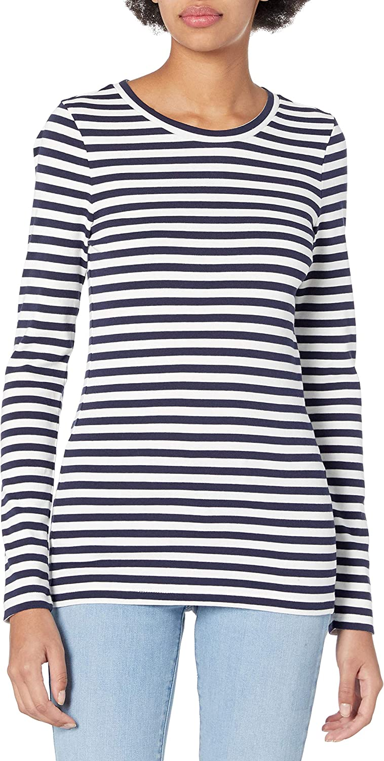 J.Crew Women's Slim Perfect Long-Sleeve T-Shirt in Stripes