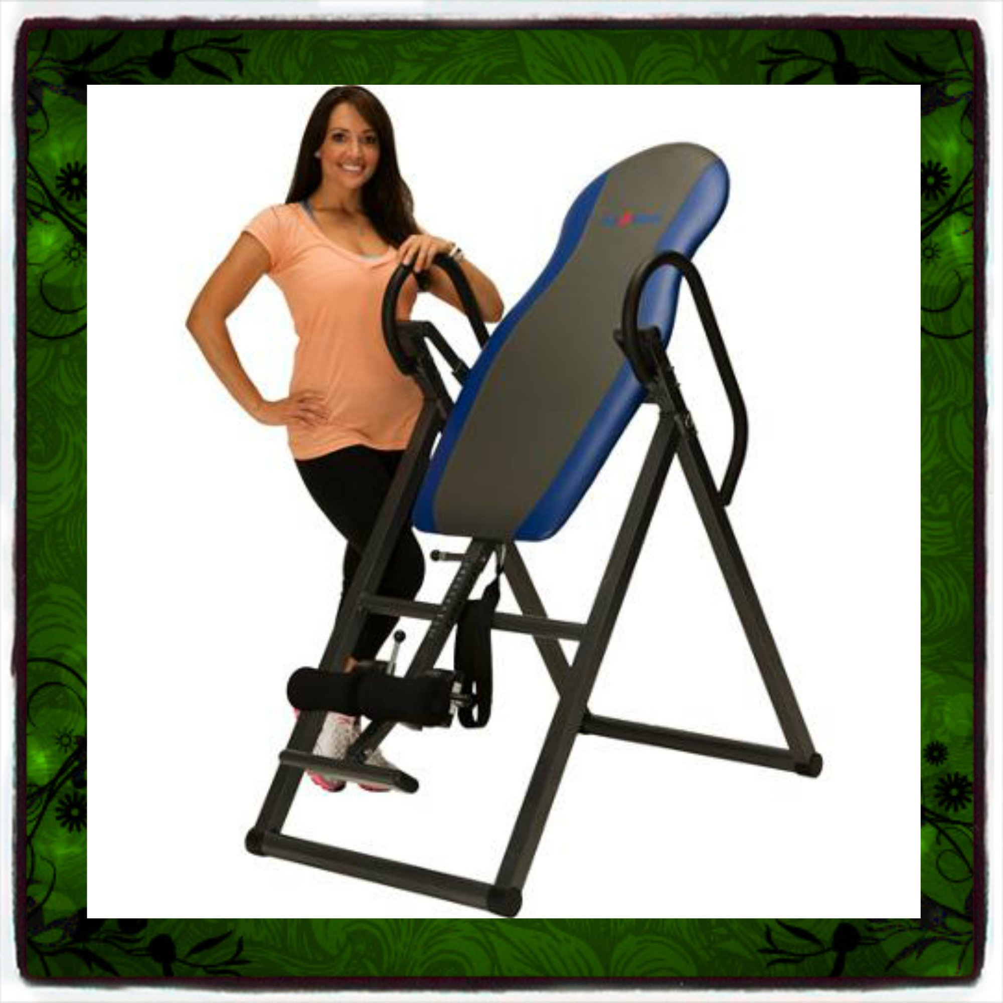 Inversion Table Deluxe Curved Chiropractic Fitness Exercise & Back Reflexology System Tables Therapy Gravity Hang Relief Ups Pain Teeter New Ironman Folding Foldable up Boots Home Gym Yoga Gyms Workout Sporting Goods Strength Training Relaxation Cardiovas