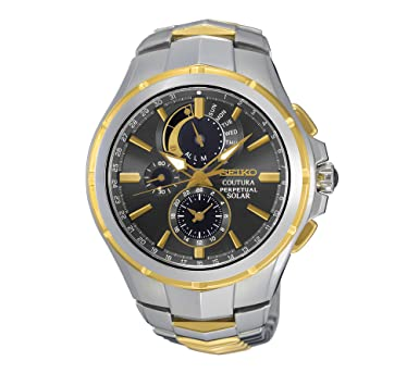Amazon.com: Seiko Mens Coutura Solar Perpetual Chronograph Watch: Watches