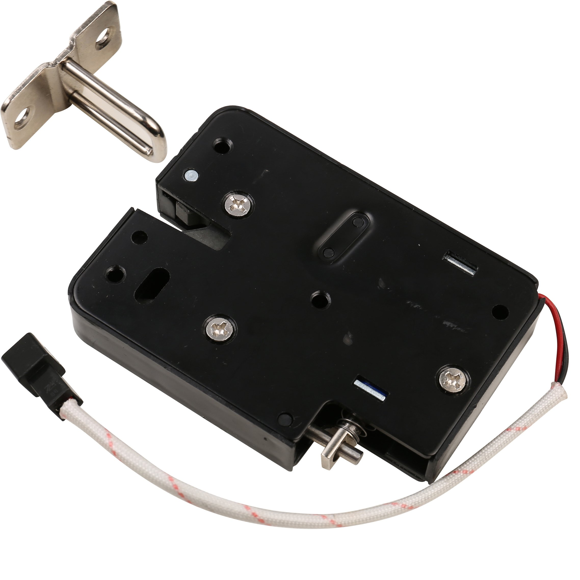 UHPPOTE DC12V Automatic Cabinet Drawer Storage Electric Solenoid Lock Tongue Assembly